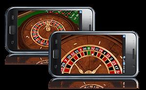 Roulette op mobiel
